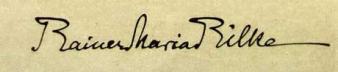Unterschriftsformen von Rilke aus seiner Münchner Zeit